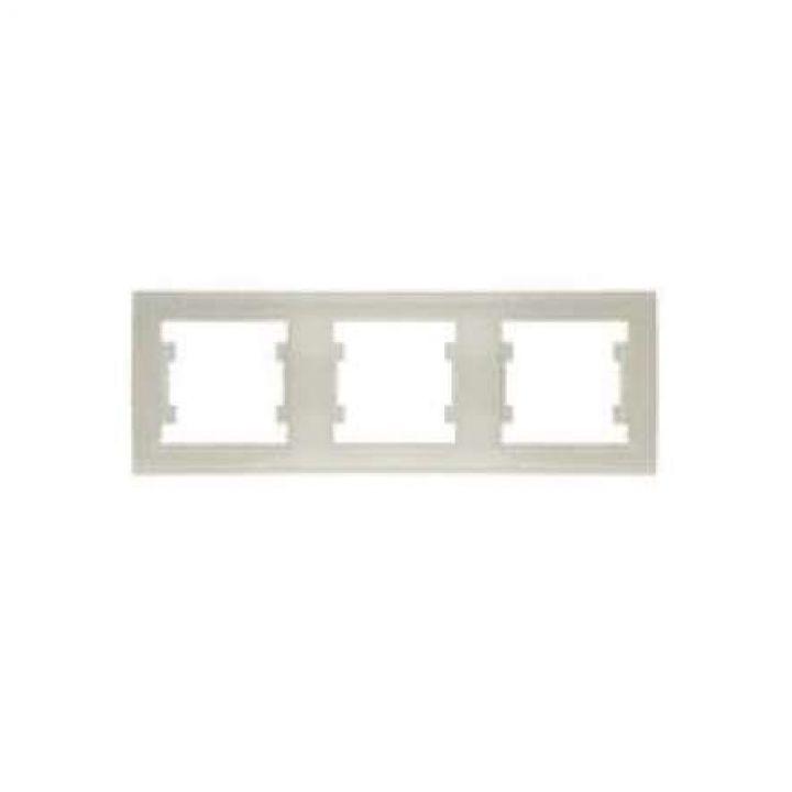 Рамка 3-м Бриллиант горизонт. сл. кость UNIVersal 7948707