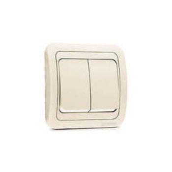 Выключатель 2-кл. СП Mimoza 10А IP20 крем./крем. Makel 25003