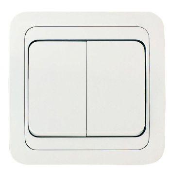 Выключатель 2-кл. СП Mimoza 10А IP20 бел./бел. Makel 12003