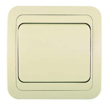 Выключатель 1-кл. СП Mimoza 10А IP20 крем./крем. Makel 25001