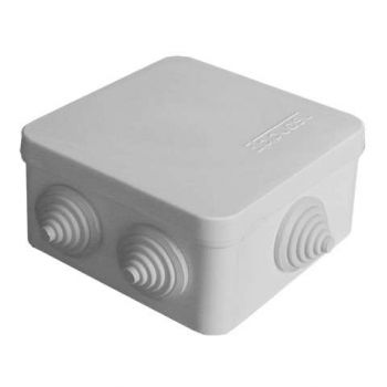 Коробка распр. ОП 84х84х45 7 выходов 3 гермоввода IP54 крышка защелкивающаяся сер. Epplast 120072
