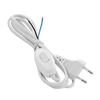 Шнур с электр. вилкой и прох. выкл. 1.7м (ШВВП-ВП 2х0.75) бел. UNIVersal А1060