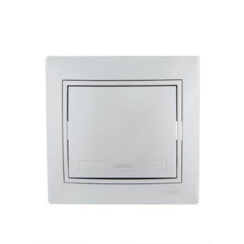 Выключатель 1-кл. СП Мира 10А IP20 метал. сер. LEZARD 701-1010-100