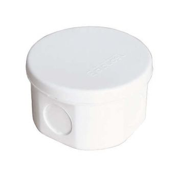 Коробка распр. ОП d75х45 4 выхода без гермовводов IP54 крышка защелкивающаяся бел. Epplast 245351