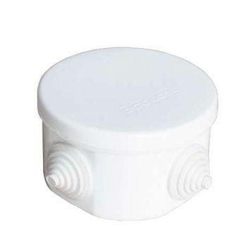 Коробка распр. ОП d75х45 4 выхода 4 гермоввода IP54 крышка защелкивающаяся бел. Epplast 240341