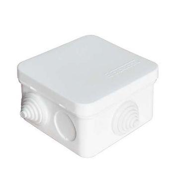Коробка распр. ОП 75х75х45 7 выходов 3 гермоввода IP 54 крышка защелкивающаяся бел. Epplast 220321