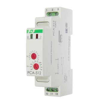 Реле времени PCA-512 (задержка выкл. 230В 8А 1перекл. IP20 монтаж на DIN-рейке) F&F EA02.001.001