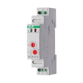 Реле времени PCR-513 (задержка вкл. 230В 8А 1перекл. IP20 монтаж на DIN-рейке) F&F EA02.001.003