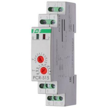 Реле времени PCR-515 (задержка вкл. 230В 2х8А 2перекл. IP20 монтаж на DIN-рейке) F&F EA02.001.006