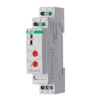 Реле времени PO-415 (задержка выкл./управ. контактом 230В 16А 1перекл. IP20 монтаж на DIN-рейке) F&F EA02.001.018