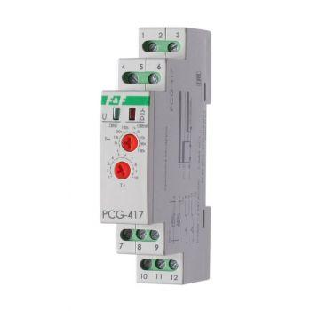 Реле времени PCG-417 (звезда-треугольник для пуска электродвиг. 230В 2х8А 2НО IP20 монтаж на DIN-рейке) F&F EA02.001.020