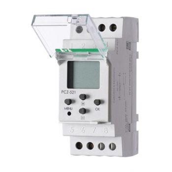 Реле времени PCZ-521 (1канал-125пар вкл. /выкл. сут. /нед. циклы 24-264В AC/DC 16А 1перекл. IP20 монтаж на DIN-рейке) F&F EA02.002.001