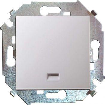 Механизм выключателя 1-кл. СП Simon15 16А IP20 с индик. бел. Simon 1591104-030