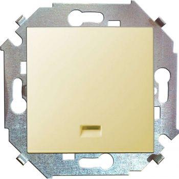 Механизм выключателя 1-кл. СП Simon15 16А IP20 с индик. сл. кость Simon 1591104-031