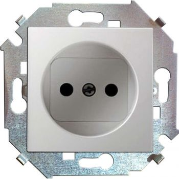 Механизм розетки 1-м СП Simon15 16А IP20 без заземл. бел. Simon 1591431-030