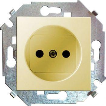 Механизм розетки 1-м СП Simon15 16А IP20 без заземл. сл. кость Simon 1591431-031