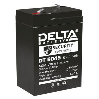 Аккумулятор 6В 4.5А.ч Delta DT 6045