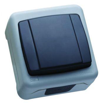Выключатель 1-кл. ОП 10А IP55 сер. Makel 36064101