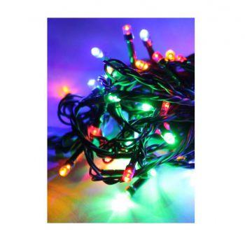 Гирлянда 10.8м 100LED зел. провод 8 режимов мигания IP20 мультиколор Космос KOC_GIR100LED_RGB