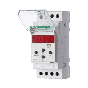Реле времени PCZ-525-1 (1 канал астрономическое коррекция вр. вкл./выкл. ночной перерыв установка независимых программ работы по дням недели 230В 16А 1P IP20 монтаж на DIN-рейке) F&F EA02.002.011