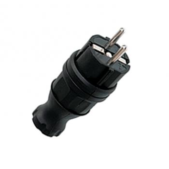 Вилка прямая 230В 2P+PE 16А IP44 каучук EKF RPS-011-16-230-44