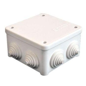 Коробка распр. ОП 85х85х45 7 выходов 3 гермоввода IP54 крышка на винтах бел. Epplast 130111