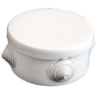 Коробка распр. ОП d90х45 4 выхода 4 гермоввода IP54 крышка защелкивающаяся бел. Epplast 140141