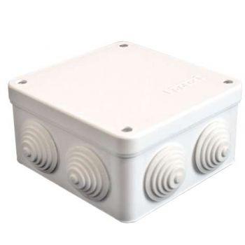 Коробка распр. ОП 105х105х56 7 выходов 4 гермоввода IP54 крышка на винтах бел. Epplast 110041
