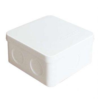 Коробка распр. ОП 84х84х45 7 выходов без гермовводов IP54 крышка защелкивающаяся бел. Epplast 125101