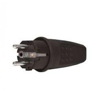 Вилка электрич. прямая с заземл. каучук 16А 250В IP44 (еврослот) UNIVersal 602227