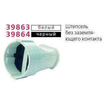 Штепсель без заземл. бел. Makel 10004