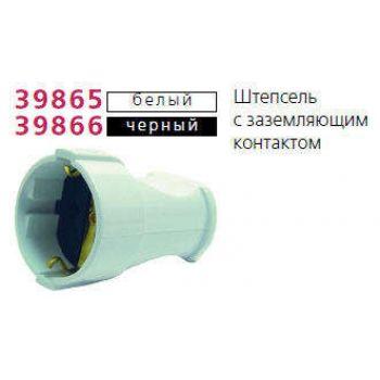 Штепсель с заземл. бел. Makel 10003