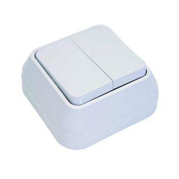 Выключатель 2-кл. ОП 10А IP20 бел. Makel 45103