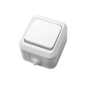 Выключатель 1-кл. ОП 10А IP44 п/герм. бел Makel 18300