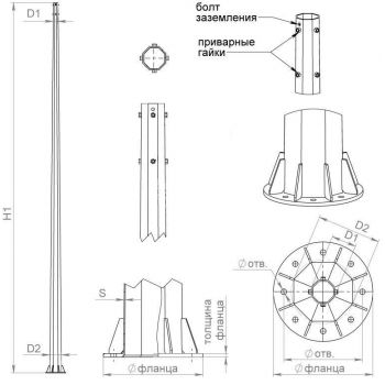 Комплект крепежа для ОГСФ/ОСФ-0.4 Пересвет В00005081