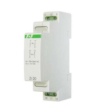 Блок питания ZI-20 (P= 12Вт Uвых. 12В DC 1мод 100-264В AC 1А IP 20) F&F EA11.001.027