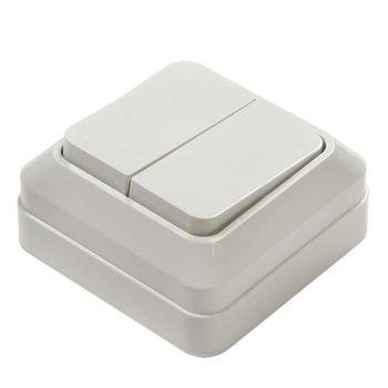 Выключатель 2-кл. BOLLETO накл. 7023 бел. ASD / IN HOME 4680005959761