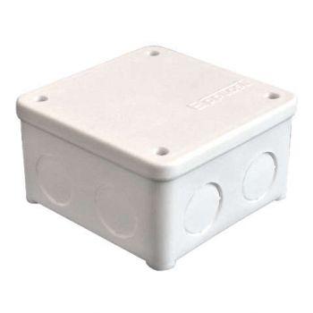 Коробка распр. ОП 85х85х45 7 выходов без гермовводов IP54 крышка на винтах бел. Epplast 135131