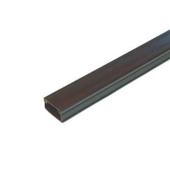 Кабель-канал 20х10 L2000 пластик с двойным замком венге УралПак КК-4820010-160