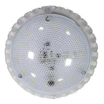 Светильник ЖКХ Сенсора LED ф133 7Вт 840лм 6500К IP50 с оптико-аккустическим датчиком (инд. упак.) Элетех 1030450337