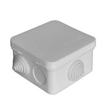 Коробка распр. ОП 75х75х45 7 выходов 3 гермоввода IP54 крышка защелкивающаяся сер. Epplast 220322