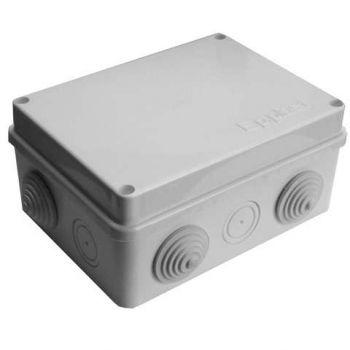 Коробка распр. ОП 150х110х70 10 выходов 6 гермовводов IP54 крышка на винтах сер. Epplast 210302
