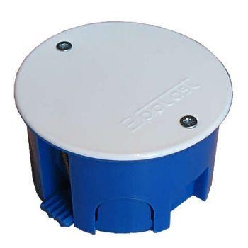 Коробка разветвительная СП d70х40 крышка на винтах пластиковые лапки для г/к Epplast 155176