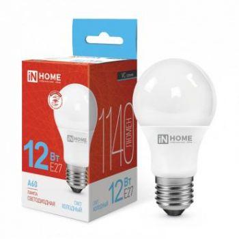 Лампа светодиодная LED-A60-VC 12Вт 230В E27 6500К 1080Лм IN HOME 4690612020259