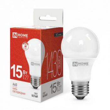 Лампа светодиодная LED-A60-VC 15Вт 230В E27 4000К 1350Лм IN HOME 4690612020273