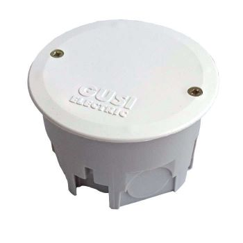 Коробка распределительная СП 68х45мм IP30 для сплошн. стен кругл. сер. ГУСИ С3В70К Евро