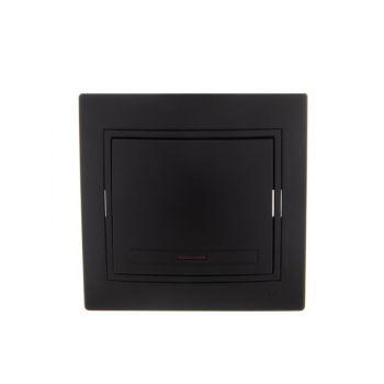 Выключатель 1-кл. СП Мира 10А IP20 с подсветкой черн. бархат LEZARD 701-4242-112